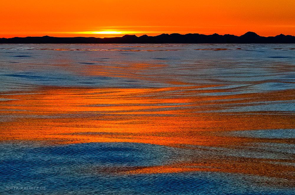 Sonnenuntergang an der Blossomville Küste